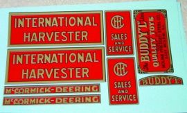 Buddy L Red Baby International Truck Stickers