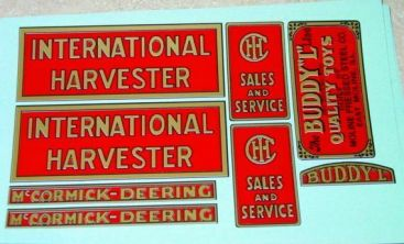 Buddy L Red Baby International Truck Stickers Main Image