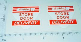 Buddy L Store to Door Delivery Sticker Set