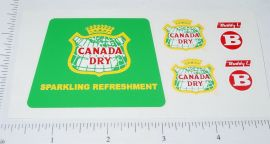 Buddy L Canada Dry Delivery Truck Stickers