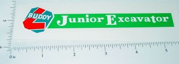 Buddy L Junior Excavator Replacement Sticker Main Image