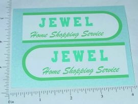 Buddy L Jewel Stores Step Van Sticker Set