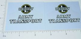 Buddy L Wood Army Transport Truck Sticker Set