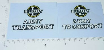 Buddy L Wood Army Transport Truck Sticker Set Main Image