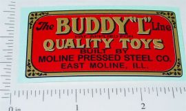 Buddy L Pre-War Floor Plate Replacement Sticker