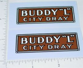 Buddy L Junior Series City Dray Sticker Set