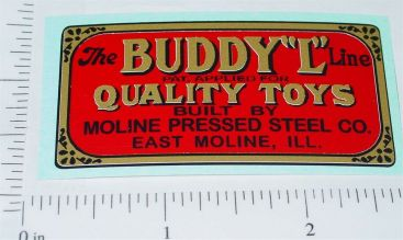 Buddy L Pre-War Floor Plate Replacement Sticker Main Image