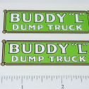 Buddy L Pre-War Dump Truck Sticker Set Main Image