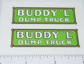Buddy L Pre-War Dump Truck Sticker Set