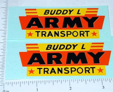 Pair Buddy L GMC Army Transport Truck Stickers Main Image