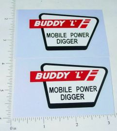 Buddy L Mobile Power Digger Truck Sticker Set
