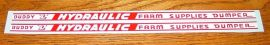 Buddy L Hydraulic Farm Supplies Dumper Stickers
