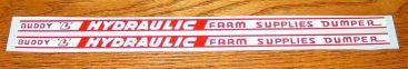 Buddy L Hydraulic Farm Supplies Dumper Stickers Main Image