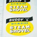 Buddy L Sit N Ride Shovel Replacement Stickers Main Image