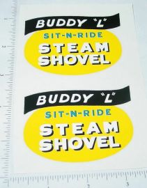 Buddy L Sit N Ride Shovel Replacement Stickers