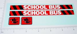 Buddy L School Bus Van Replacement Stickers