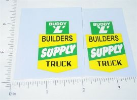 Buddy L Builders Supply Truck Stickers