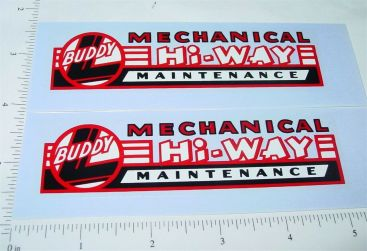 Buddy L Mech Hiway Maintenance Truck Stickers Main Image