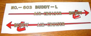Buddy L Air Cruiser Airplane Sticker Set Main Image