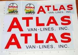 Buddy L Atlas Van Lines Semi Truck Sticker Set