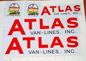 Buddy L Atlas Van Lines Semi Truck Sticker Set Main Image