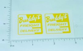 Buddy L Freight Delivery Stake Truck Stickers