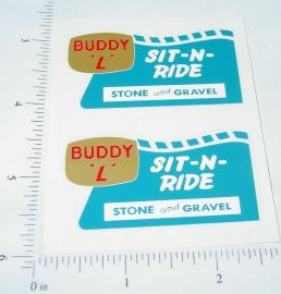 Buddy L Sit N Ride Sand & Gravel Truck Stickers