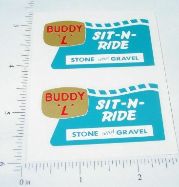 Buddy L Sit N Ride Sand & Gravel Truck Stickers Main Image