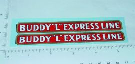 Buddy L Pre War Express Line Truck Stickers