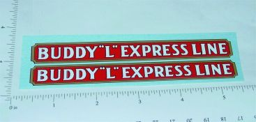 Buddy L Pre War Express Line Truck Stickers Main Image