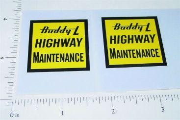 Buddy L Hiway Maintenance Vehicle Stickers Main Image