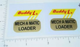 Buddy L Mech A Matic Auto Carrier Truck Stickers