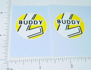 Buddy L Round Yellow/White Door Stickers Main Image