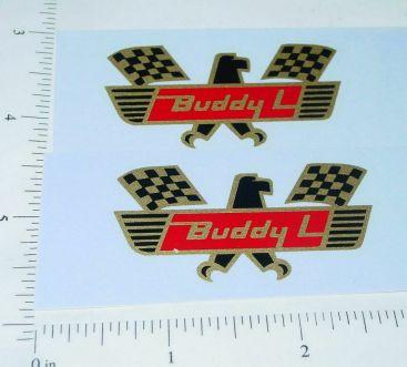 Buddy L Daytona Race Car Hauler Door Sticker Set Main Image