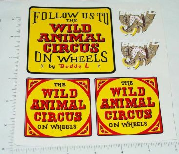 Buddy L Wild Animal Circus Semi Truck Sticker Set Main Image