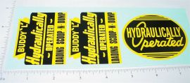 Buddy L Hyd Operated Scoop N Dump Stickers