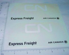 Buddy L CN Freight Transport Van Stickers