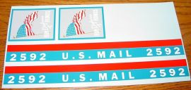 Buddy L US Mail Bonds Replacement Stickers