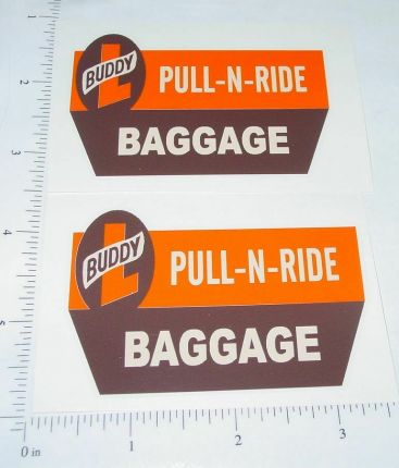 Buddy L Pull N Ride Baggage Truck Sticker Set Main Image