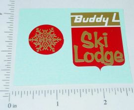 Buddy L Volkswagon Bus Ski Van Sticker Set
