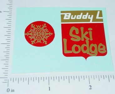 Buddy L Volkswagon Bus Ski Van Sticker Set Main Image