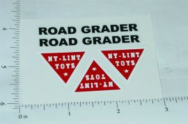 Nylint Road Grader Vehicle Stickers
