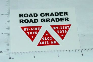 Nylint Road Grader Vehicle Stickers Main Image