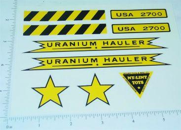 Nylint Uranium Hauler Vehicle Sticker Set Main Image