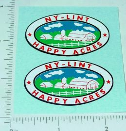 Nylint Happy Acres Farms Stake Truck Stickers