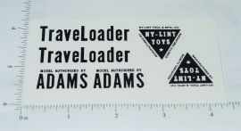 Nylint Adams Traveloader Const Toy Stickers