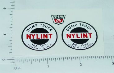 Nylint #5100 Dump Truck Stickers Main Image