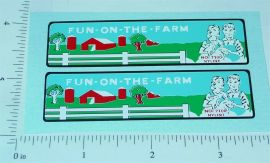 Nylint Fun on the Farm Econoline Truck Stickers