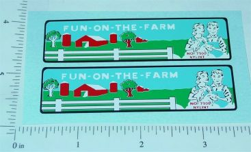 Nylint Fun on the Farm Econoline Truck Stickers Main Image