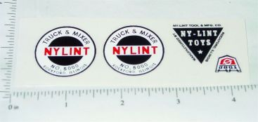 Nylint Truck & Mixer Replacement Stickers Main Image